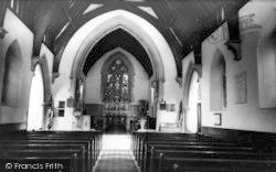Ide Hill, The Church Interior c.1960