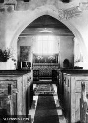 St Hubert's Chapel Interior c.1955, Idsworth