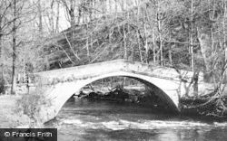 Ilam, The Footbridge, Ilam Hall c.1965