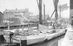 Ilford, Barges At The Wharves 1905