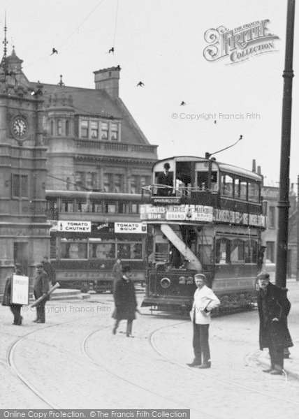 Photo of Ilford, Broadway, Trams c.1907