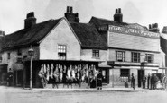 Ilford, Butcher's Shop And The White Horse, Broadway 1865