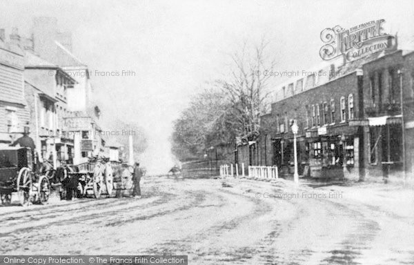 Photo of Ilford, High Road From The Broadway c.1860
