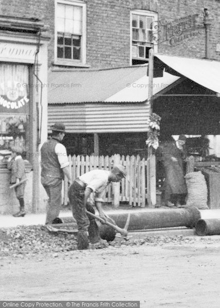 Photo of Ilford, High Road, Laying Pipes 1893
