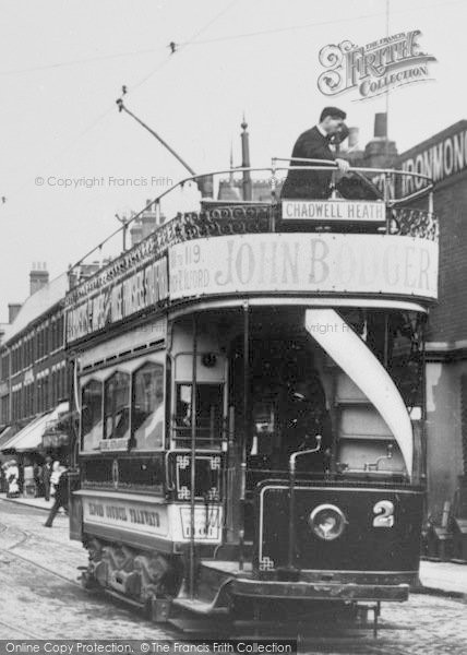 Photo of Ilford, High Road, Tram 1905