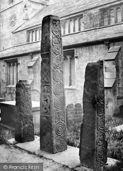 Ilkley, All Saints' Church, The Saxon Crosses In Churchyard c.1874