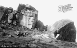 Ilkley, Cow And Calf Rocks 1886