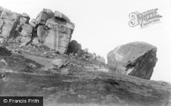 Ilkley, Cow And Calf Rocks 1900