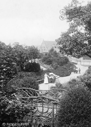 Ilkley, Mother With Pram, Spence's Gardens 1906