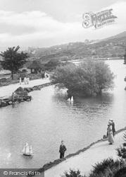 Ilkley, Toy Boat On The Tarn 1921