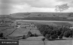Mixenden Valley And Reservoir c.1960, Illingworth