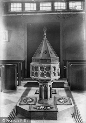 Ilminster, St Mary's Church Font 1907