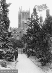 Ilminster, St Mary's Church From Grammar School 1907