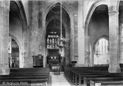 Ilminster, St Mary's Church Interior 1907