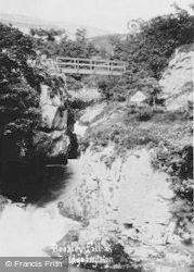 Ingleton, Beezley Falls And Bridge c.1920