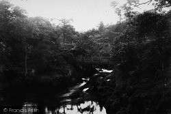 Ingleton, Footbridge On The Greta 1887