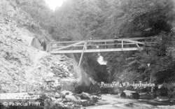Ingleton, Pecca Falls And Bridge c.1920