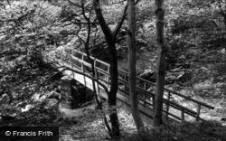 Ingleton, The Footbridge c.1955