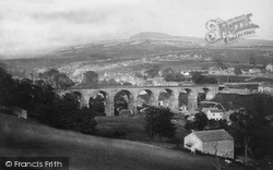 Ingleton, Viaduct And Ingleborough 1890