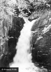 Ingleton, Waterfall c.1955