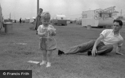 Caravan Site, Father And Toddler 1958, Ingoldmells