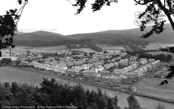 Photo of Innerleithen, from the east c1955, ref. i43004