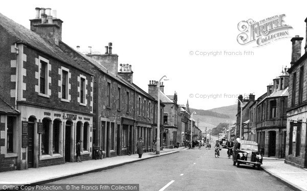 Photo of Innerleithen, High Street c1955, ref. i43011