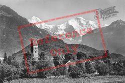 Monch And Jungfrau c.1930, Interlaken
