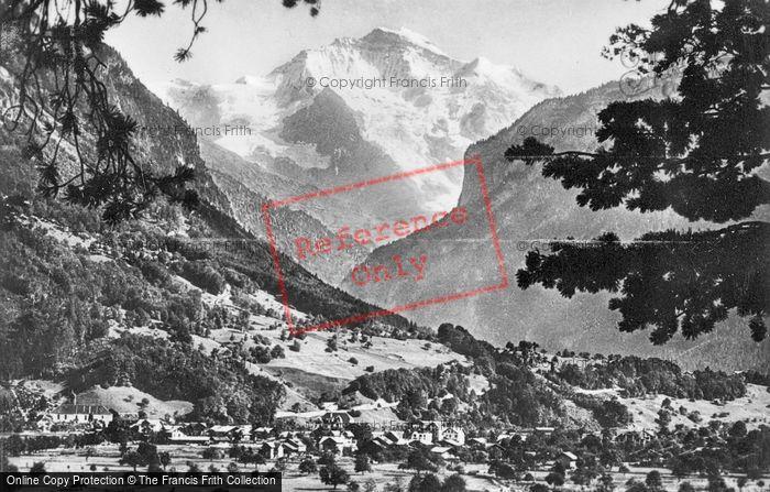 Photo of Interlaken, The Jungfrau c.1930
