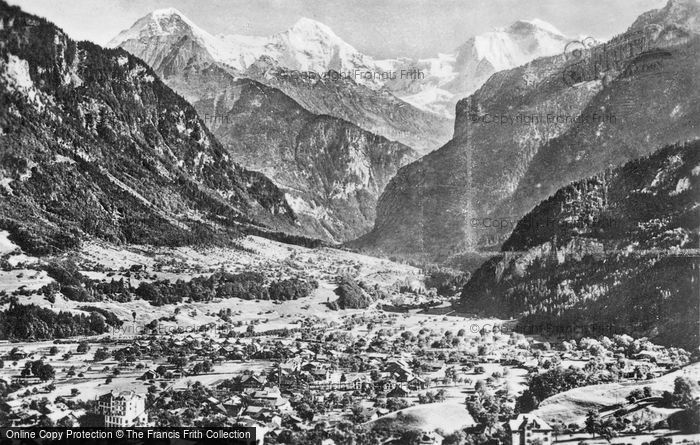 Photo of Interlaken, Wilderswil, Eiger, Monch And Jungfrau c.1930