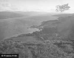 Inveraray, Castle And Town From Dun Na Cuaiche c.1950