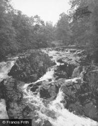 Inveraray, Waterfall c.1950