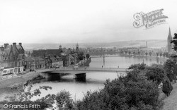 Inverness, The Bridge And The Ness c.1965