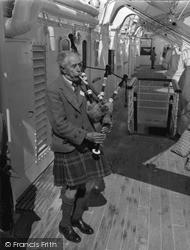 Iona, Seton Gordon Playing The Bagpipes c.1955