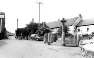 Ipplepen, the Square and War Memorial c1960