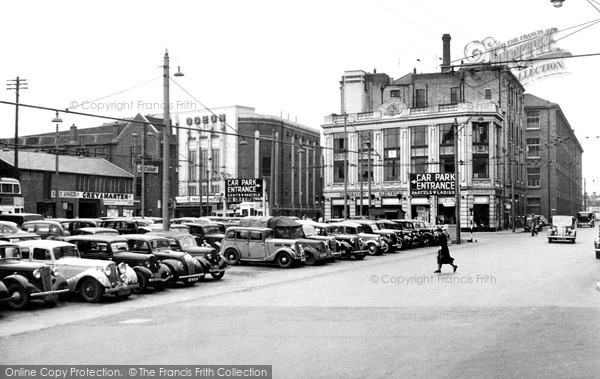 Ipswich, Electric House and the Car Park c1955