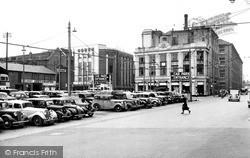 Electric House And The Car Park c.1955, Ipswich