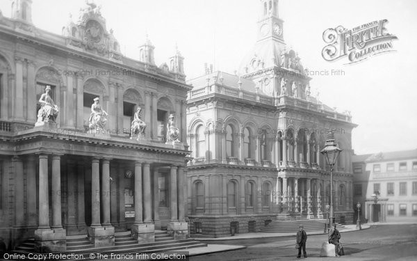 Photo Of Ipswich, Post Office And Town Hall 1893