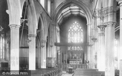 Ipswich, St Mary Le Tower Interior 1893