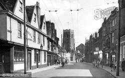 St Peter's Street c.1955, Ipswich