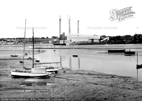 Ipswich, the Power Station c1955