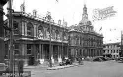 The Town Hall And Gpo, Cornhill c.1955, Ipswich