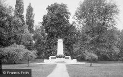 Ipswich, The War Memorial c.1955