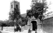 Ipswich, Wolsey's Gate and St Peter's Church 1893