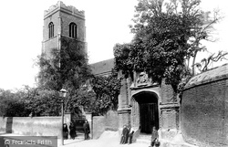 Wolsey's Gate And St Peter's Church 1893, Ipswich