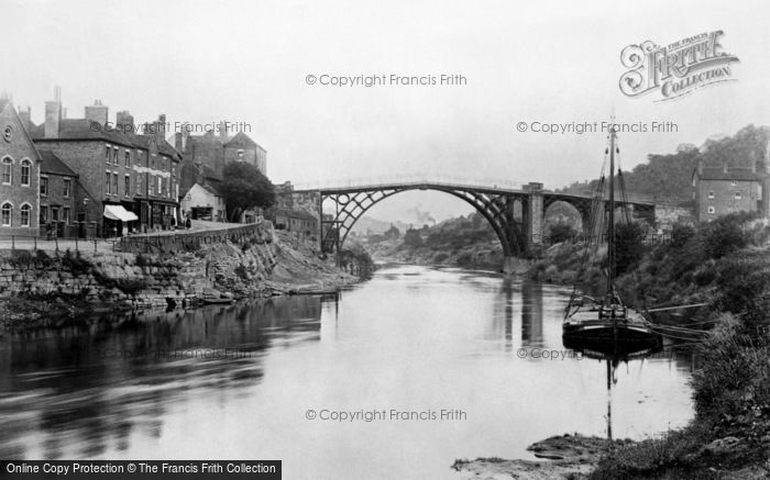 Photo of Ironbridge, Bridge from the River Severn 1892