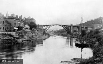 Ironbridge, Bridge from the River Severn 1892