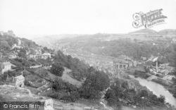 From Rotunda Cliff 1896, Ironbridge