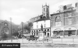 The Church And Memorial c.1955, Ironbridge