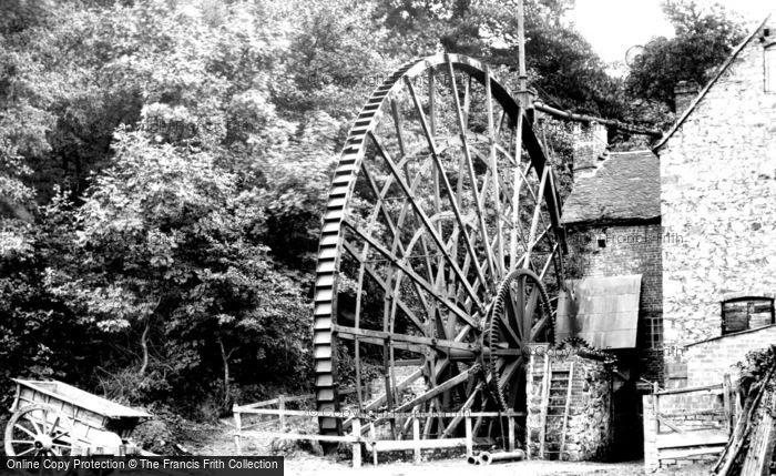Ironbridge,Waterwheel 1892,Shropshire